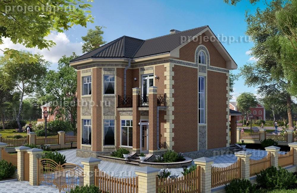 Проект компактного двухэтажного дома с эркером B-108